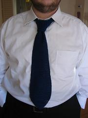 Men's Crocheted Tie