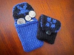Double Knit Sampler Coin Purse