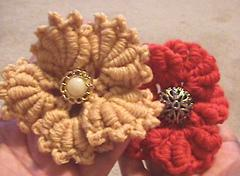 Bullion Stitch Crochet Flower