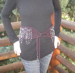 Beaded Felt Belt & Bonus Scarf