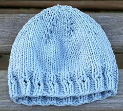 Simple Preemie Hat (with eyelets)