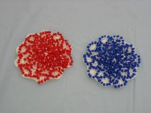 bead topped coasters