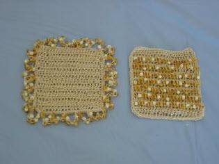 square beaded coasters