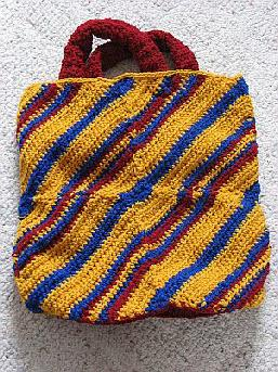 Yarn striped tote