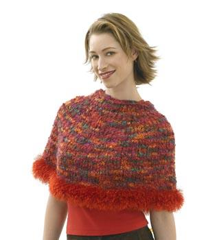 Capelet, Hat, Scarf and Wristlets Set - Hat Pattern