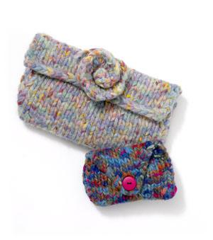 Jeans Felted Coin Purse
