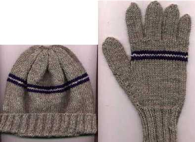 """J Crew Style"" Hat and Gloves"