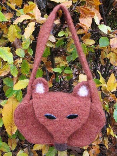 Fox Bag, Felted