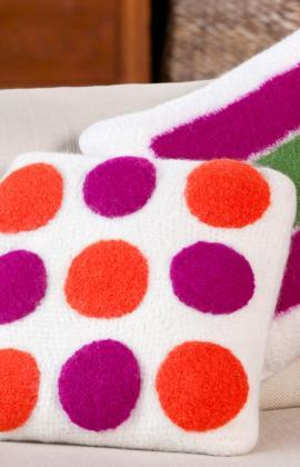 Square Pegs Round Holes Felted Pillows