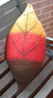Fall Leaf Pillow, Felted