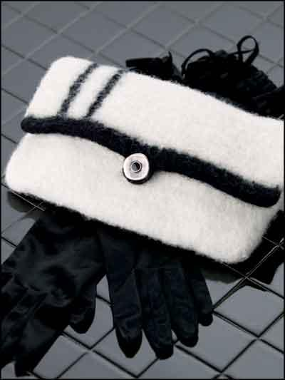 Day Or Night Felted Clutch