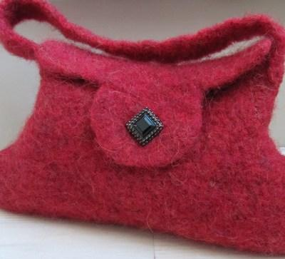 Bloody Mary Felted Bag