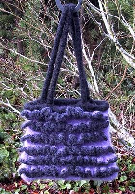 A Lot A Ruffles Felted Bag
