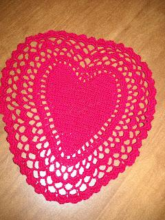 Heart Of Mary Doily