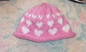 Free SmoothFox's I Love You Hearts Knit Hat