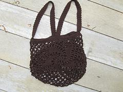 Crochet Spiral Motif String Bag