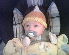 Candy Corn Newborn Hat