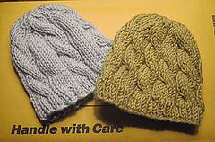 Cabled Baby Hats