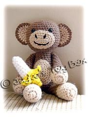 Amigurumi Monkey with Banana
