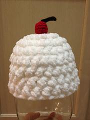 Cupcake/Ice Cream Hat with cherry on top