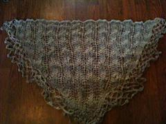 Alp Virgin Lace Eyelet Triangle Shawl