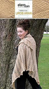 Aran Weight Victorian Lace Shawl