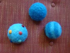 Felted Bouncy Balls