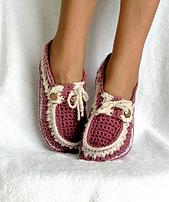 Adult Button Loafers Crochet Pattern