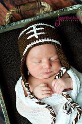 free baby football hat crochet pattern
