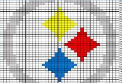 Crochet Pattern Steelers Afghan : CROCHET PATTERNS STEELERS LOGO Crochet Patterns Only