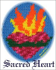 Crochet Sacred Heart Tapestry Afghan Chart Graph Free