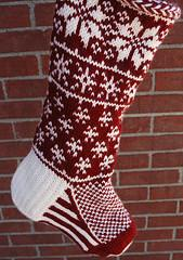 Falling Snow Stocking