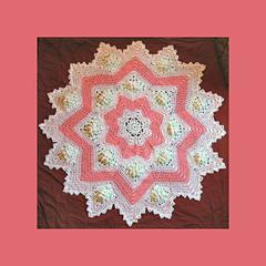 Dogwood Blossom 8 to 16 Point Round Ripple Pattern