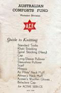 "Khaki Stockings to be Worn with Shorts from ""Guide to Knitting for Active Service"" by the Australian Comforts Fund, 1940"
