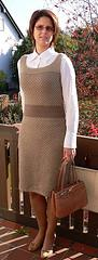 Brown Tweed Dress