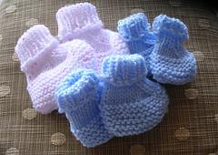 Seamless Preemie Booties