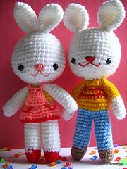 amigurumi patterns bunny rabbit Charlie and Angel