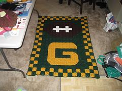 Green Bay Packers Granny Square Afghan