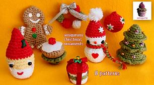 8 Amigurumi Christmas Ornaments