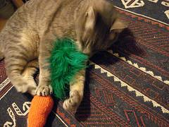 carrot top cat toy