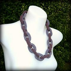 Chain Link Crochet Necklace