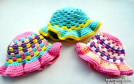 Crochet Granny Stitch Sun Hat