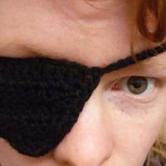 Crochet Like A Pirate! crocheted pirate eye patch