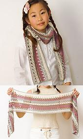 29-31 Horizontal stripe shawl