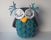 Crocodile Stitch Owl Holder