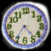 """Time To Knit!"" Knitted Wall Clock"