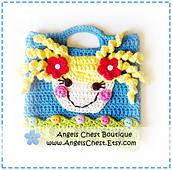 Lala Loopsy Lalaloopsy Doll Inspired Crochet Purse Bag Pattern Boutique Design - No. 39 by AngelsChest