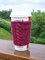 Cabled Coffee Cuff