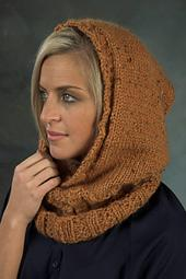 F420 Baby Alpaca Grande Tweed Hooded Neckwarmer